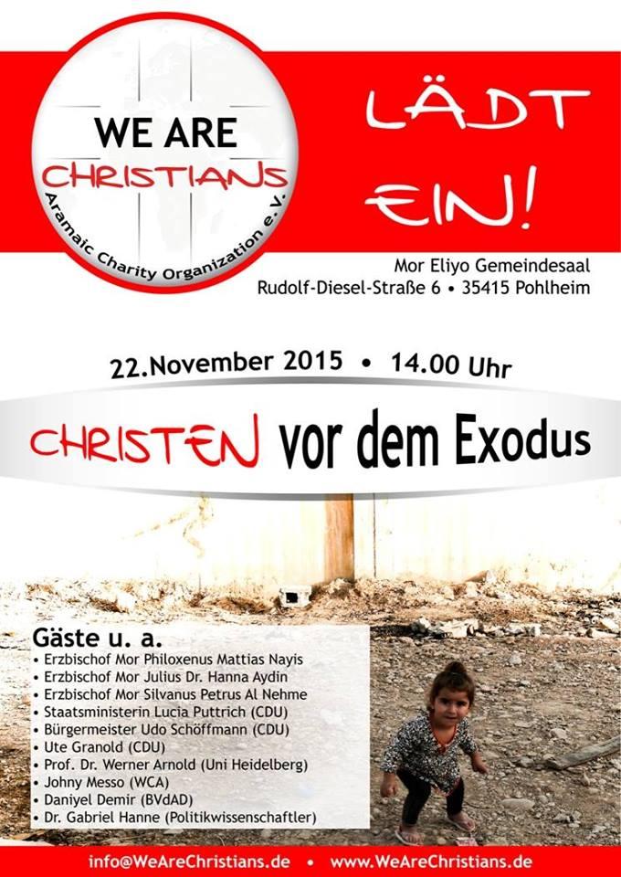 christen vor dem Exodus