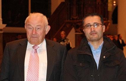 Dr. Günther Beckstein, Ehemaliger Ministerpräsident Bayern, Dr. Josef Tozman, Vorstandsmitglied und Mitgründer des aramäischen Hilfswerk, We Are Christians - Aramaic Charity Organization e.V.