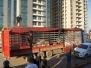 Ankunft des ersten Lkw am ersten Weihnachtstag 2014