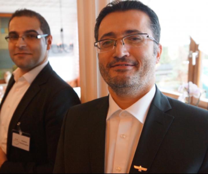 v.r.n.l. Dr. Josef Tozman, Matthias Kücükkaplan - Vorstandsmitglieder von We Are Christians - Aramaic Charity Organization