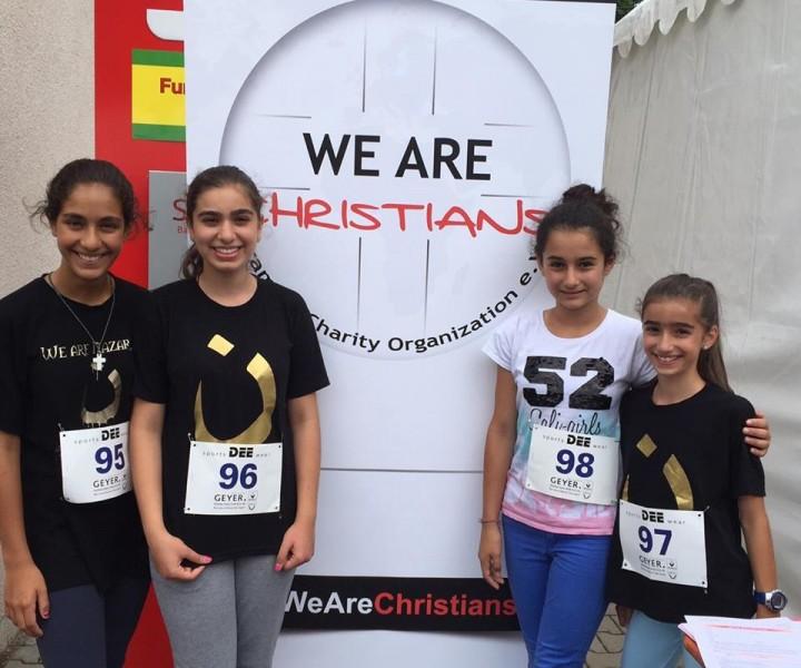 unsere Läuferinnen vor dem Start