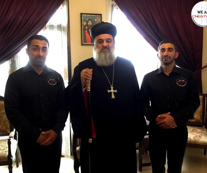 Audienz beim syrisch-orthodoxen Patriarchen, Seine Heiligkeit Mor Ignatius Aphrem II., mit Josef Gabriel und Jakob Jakob