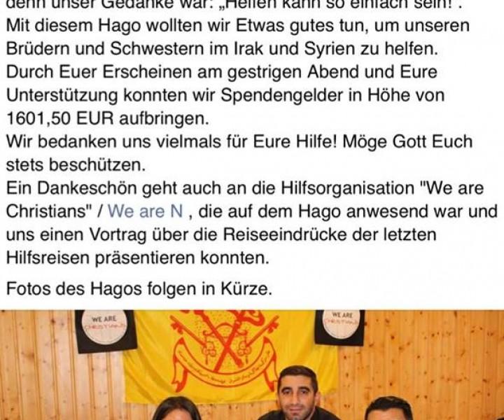 """Weihnachtsfeier in Augsburg unter dem Motto: """"Helfen kann so einfach sein!"""""""